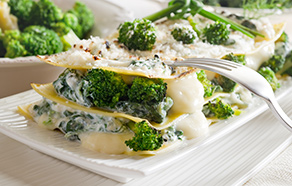 Lasagne with Broccoli and Cooked Ham
